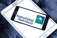 Logotipo del aramco del saudí Fotografía de archivo
