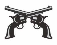 Logotipo del arma de la pistola Fotografía de archivo