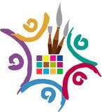 Logotipo del artista del equipo Imagen de archivo
