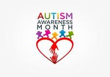Logotipo del autismo Imágenes de archivo libres de regalías