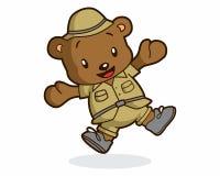 Logotipo del aventurero del oso Imagen de archivo