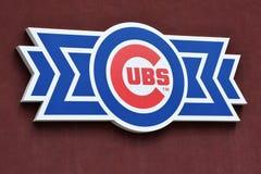 Logotipo del béisbol de los Chicago Cubs foto de archivo libre de regalías