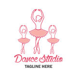 Logotipo del ballet para la escuela del ballet Ilustración del vector Fotografía de archivo libre de regalías