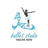 Logotipo del ballet para la escuela del ballet Ilustración del vector Foto de archivo