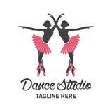 Logotipo del ballet para la escuela del ballet Ilustración del vector Imágenes de archivo libres de regalías