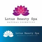 Logotipo del balneario de la belleza de Lotus Fotografía de archivo libre de regalías