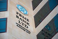 Logotipo del banco de FBME Fotos de archivo