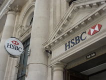 Logotipo del banco de HSBC Imágenes de archivo libres de regalías