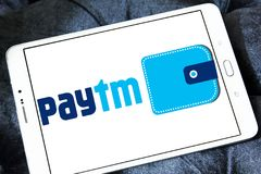 Logotipo del banco de los pagos de Paytm Imágenes de archivo libres de regalías