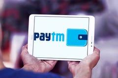 Logotipo del banco de los pagos de Paytm Imagen de archivo libre de regalías