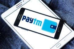 Logotipo del banco de los pagos de Paytm Fotografía de archivo