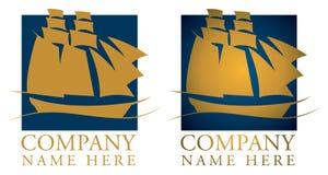 Logotipo del barco de vela Imagen de archivo libre de regalías