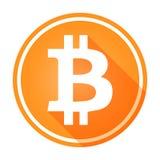 Logotipo del bitcoin/icono anaranjados brillantes, circulares Blanco en naranja libre illustration
