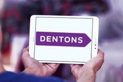 Logotipo del bufete de abogados de Dentons Fotografía de archivo libre de regalías