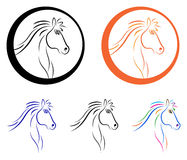 Logotipo del caballo ilustración del vector