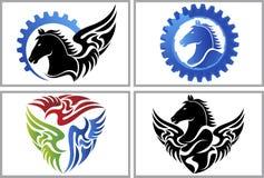 Logotipo del caballo de la mosca Imagen de archivo libre de regalías