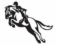 Logotipo del caballo de montar a caballo Foto de archivo libre de regalías