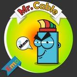 Logotipo del cable óptico Fotografía de archivo libre de regalías