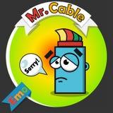 Logotipo del cable óptico Fotos de archivo