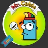 Logotipo del cable óptico Imagenes de archivo