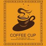 Logotipo del café Imágenes de archivo libres de regalías