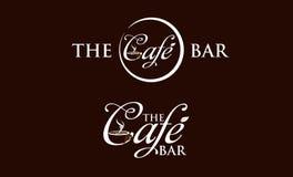 Logotipo del café Fotografía de archivo