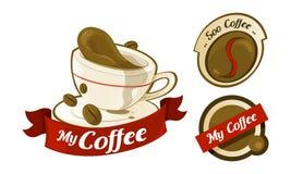 Logotipo del café Imagen de archivo