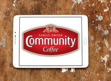 Logotipo del café de la comunidad Foto de archivo libre de regalías