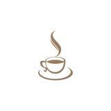 Logotipo del café de la taza de café Foto de archivo libre de regalías