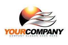 Logotipo del calor de Sun Imágenes de archivo libres de regalías