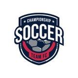 Logotipo del campeonato del fútbol Fotografía de archivo libre de regalías