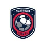 Logotipo del campeonato del fútbol Imagen de archivo libre de regalías