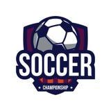 Logotipo del campeonato del fútbol Foto de archivo