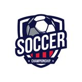 Logotipo del campeonato del fútbol Fotos de archivo libres de regalías