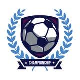 Logotipo del campeonato del fútbol Imagenes de archivo