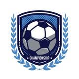 Logotipo del campeonato del fútbol Imágenes de archivo libres de regalías
