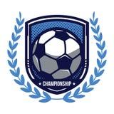 Logotipo del campeonato del fútbol Fotografía de archivo