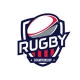 Logotipo del campeonato del rugbi Fotos de archivo