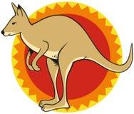 Logotipo del canguro Foto de archivo