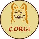 Logotipo del carácter del Corgi stock de ilustración