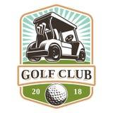 Logotipo del carro de golf Imagen de archivo