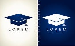 Logotipo del casquillo de los graduados ilustración del vector