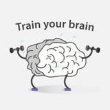 Logotipo del cerebro del deporte Fotos de archivo libres de regalías