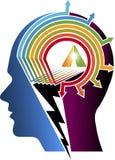 Logotipo del cerebro del poder Foto de archivo libre de regalías