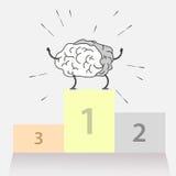 Logotipo del cerebro para el triunfo del deporte Imagen de archivo libre de regalías