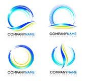 Logotipo del chapoteo del agua stock de ilustración