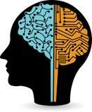 Logotipo del circuito del cerebro Imagen de archivo libre de regalías