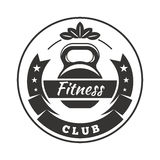 Logotipo del club de fitness Fotos de archivo