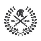 Logotipo del club de la lucha Casco romano o griego Foto de archivo libre de regalías