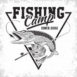 Logotipo del club de la pesca libre illustration